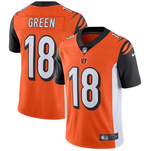 Image of Men's Cincinnati Bengals A.J. Green Nike Orange Vapor Untouchable Limited Player Jersey