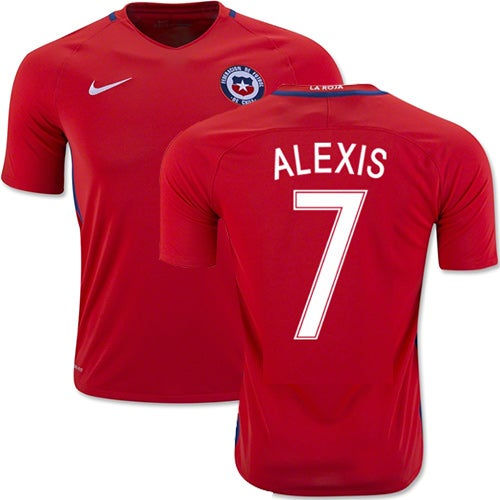 Image of Men's Alexis 7 Chile Home Shirt 2016/17