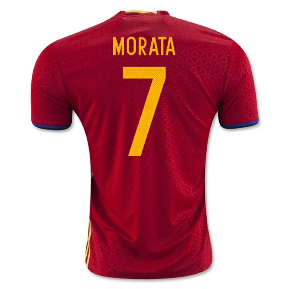 Image of Men's Spain 2018 Alvaro Morata #7 Home Jersey