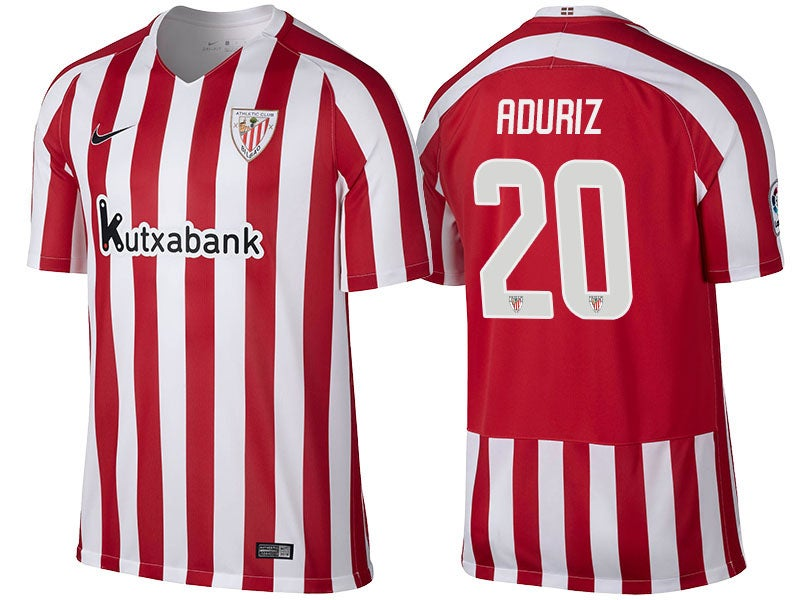 Image of Men's Athletic Club Bilbao Jersey Artiz Aduriz Red 2016-17