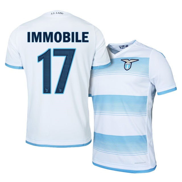 Image of Men's Cico Immobile Macron 2016-17 Lazio Third Jersey