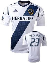 Image of Men's Adidas LA Galaxy SS Home Jersey White Navy