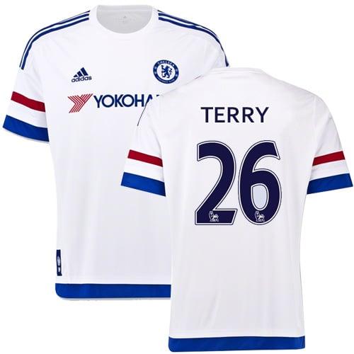 hot sale online f35d0 7a4cd Men's Adidas 2015-2016 Chelsea Away Jersey #26 John Terry