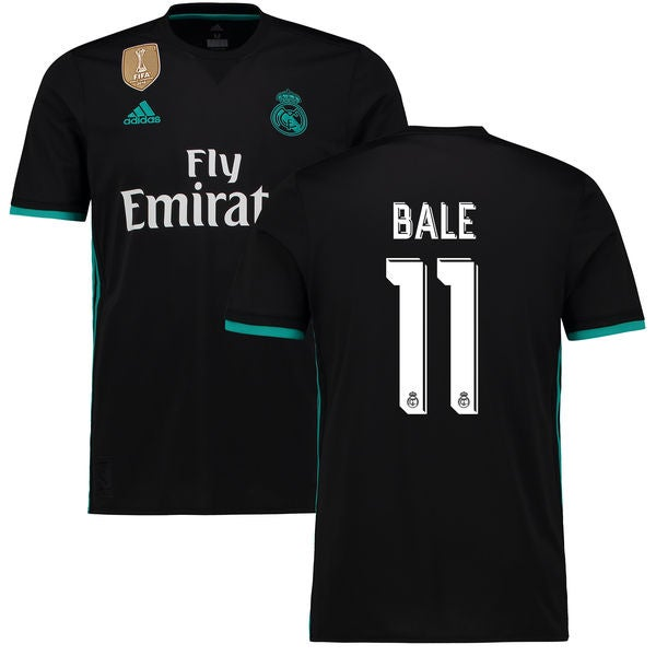 Image of Men's Adidas Real Madrid 17/18 Away Jersey Bale #11