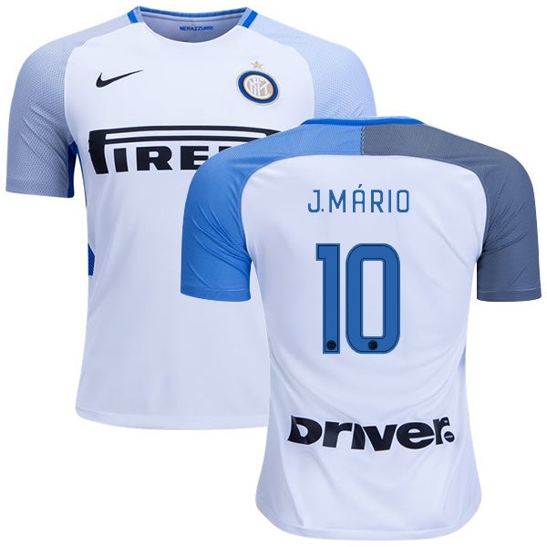 Image of Men's Nike Inter Milan Away 17/18 Joao Mario Jersey #10