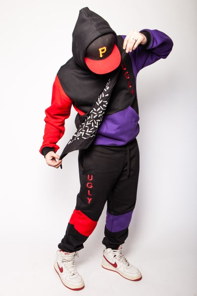 Image of Red Purple Black UGLY sweatpants