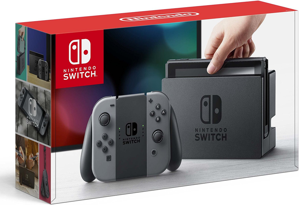 Image of Nintendo Switch Console System Gray Joy-Con