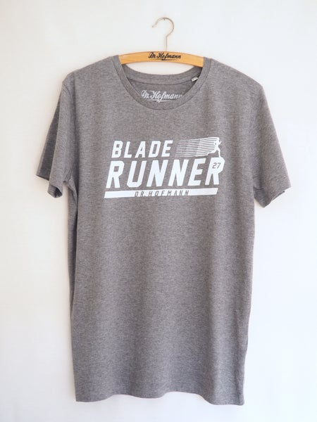 "Image of ""BLADE RUNNER"" tee - Organic Cotton - Heather Sport Grey"