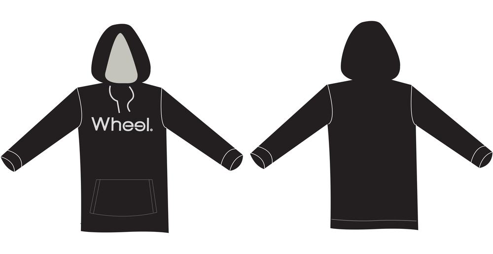 Image of The Classic Hoodie - Black/Gray