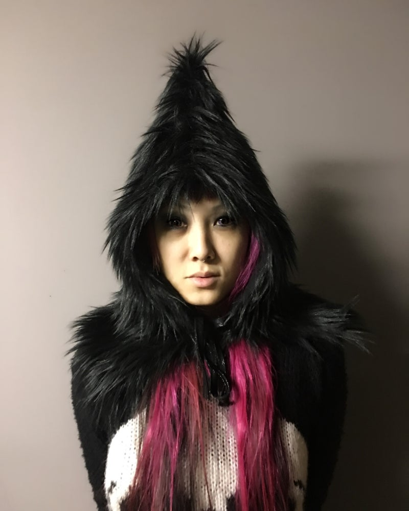 Image of Furry Pointy hood