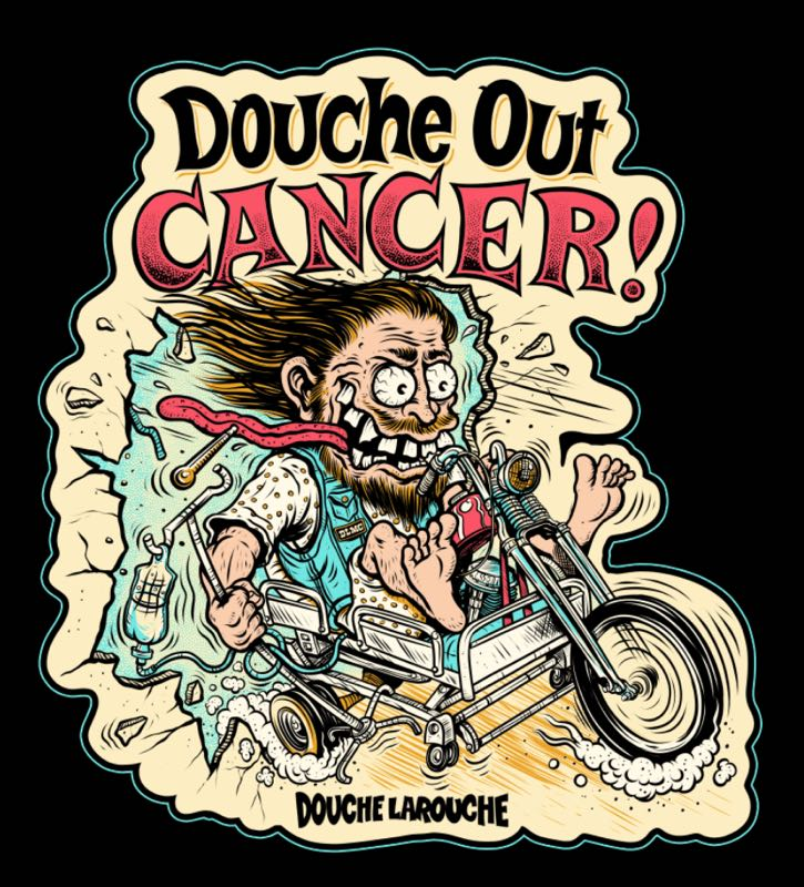 Image of Douche Out Cancer Sticker Pack