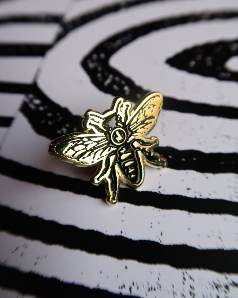 Image of Jimmy's Manchester Bee Pins (Limited Edition)