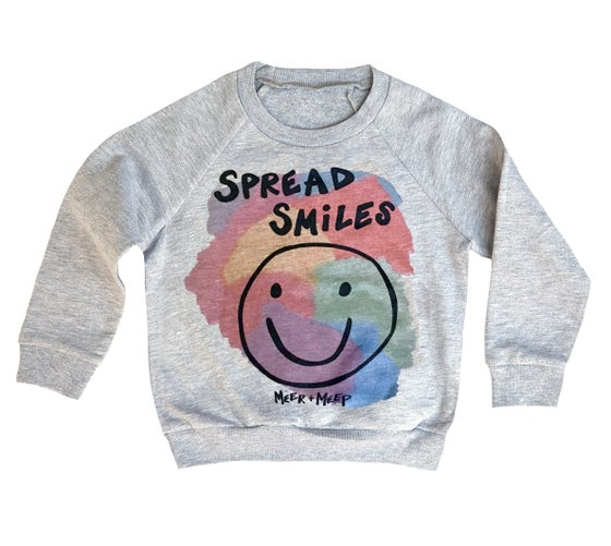 Image of SPREAD SMILES COLOR SWEATSHIRT