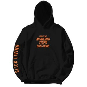 Image of Black The Zeroni Motto Pullover Hoodie | Exclusive Release
