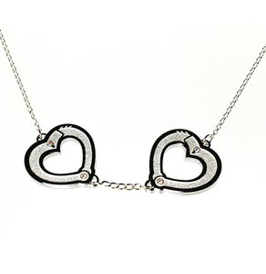 "Image of ""Autoerotic Fatality"" HeartCuffs Necklace by Hello Drama"