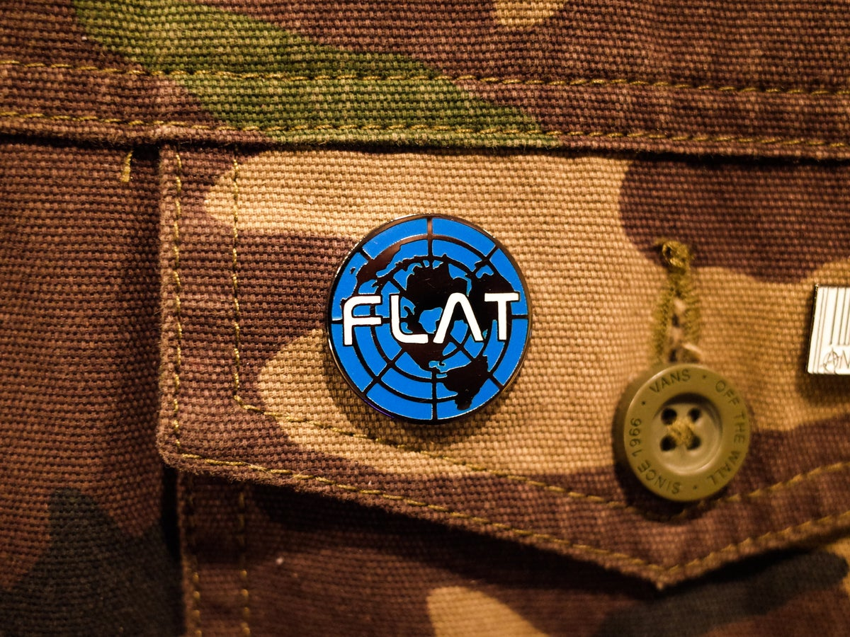 Image of Flat Earth Hard Enamel Pin