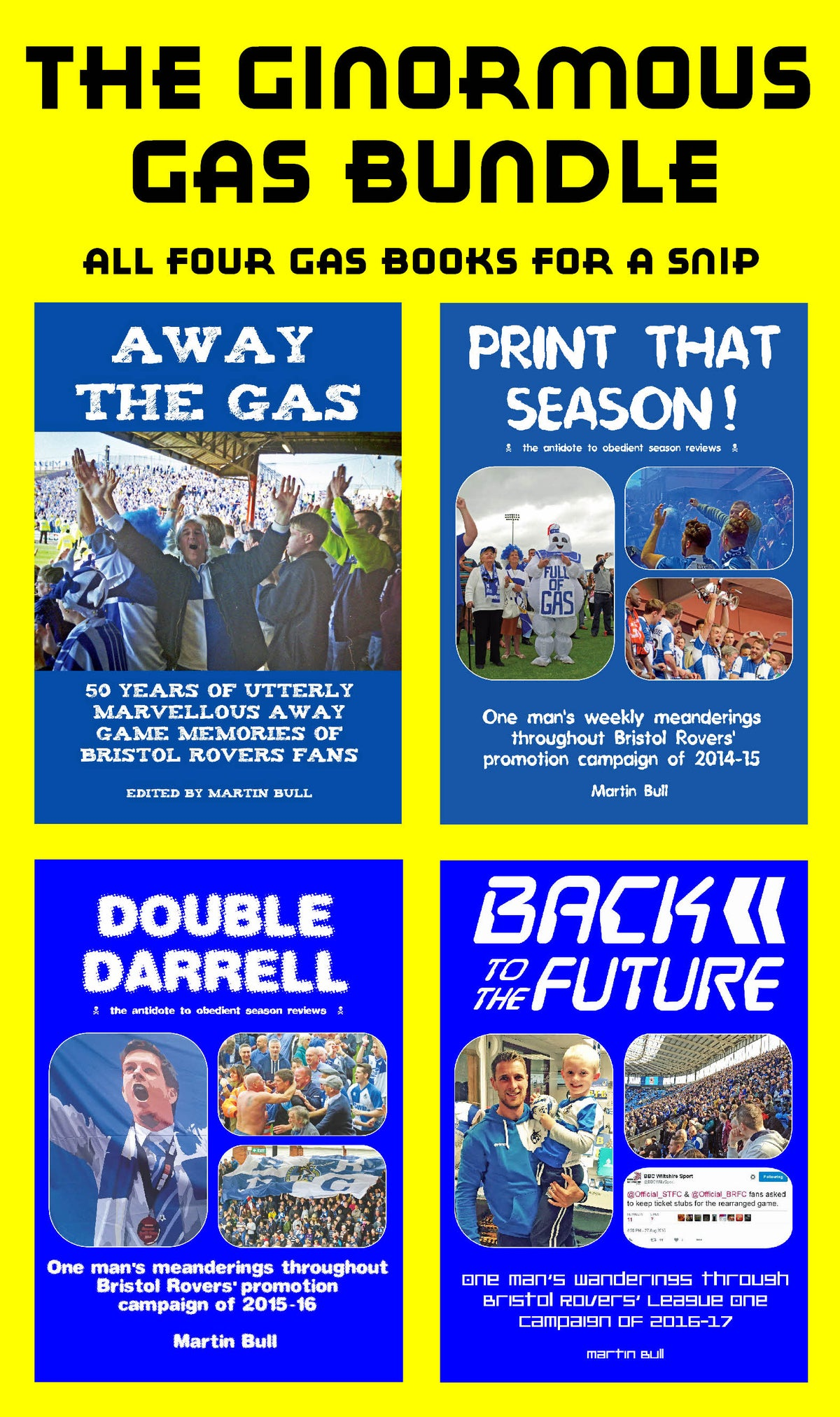 Image of ALL four of my Bristol Rovers books
