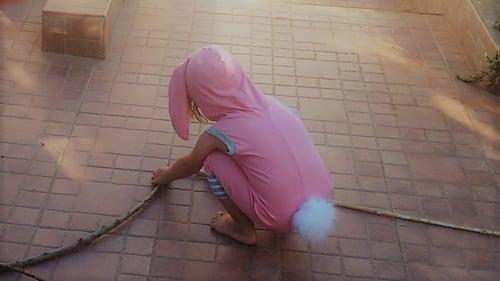 Image of Pink Bunny Summer Playsuit  אוברול קיץ ארנב ורוד