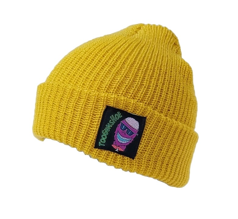 Image of Braindead Yeti Watch Cap (Mustard)