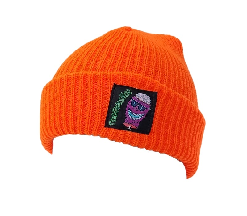 Image of Braindead Yeti Watch Cap (Safety Orange)