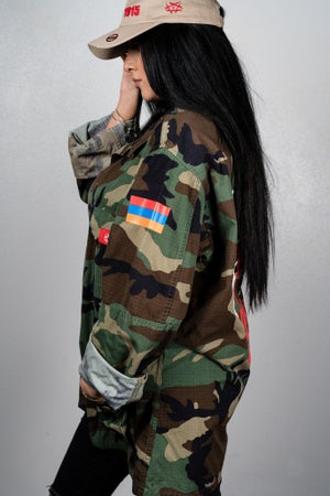 Image of Camo Jacket - Open Wounds with Armenian Flag