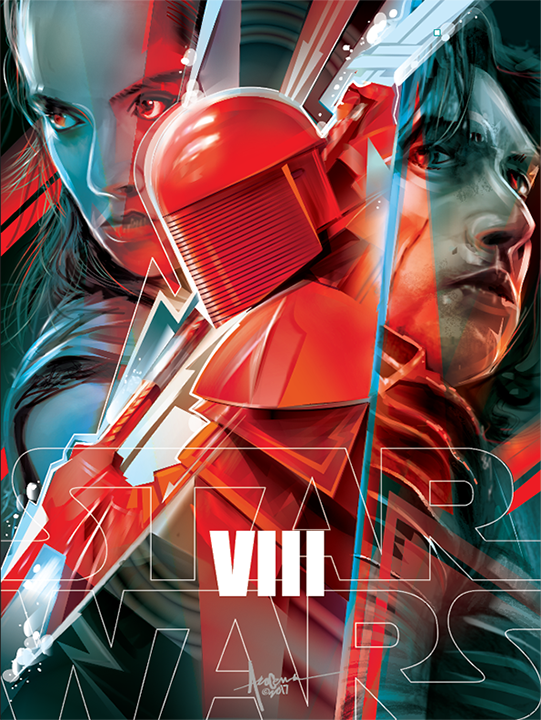 Image of The LAST JEDI-VIII- 18x24 - edition of 25