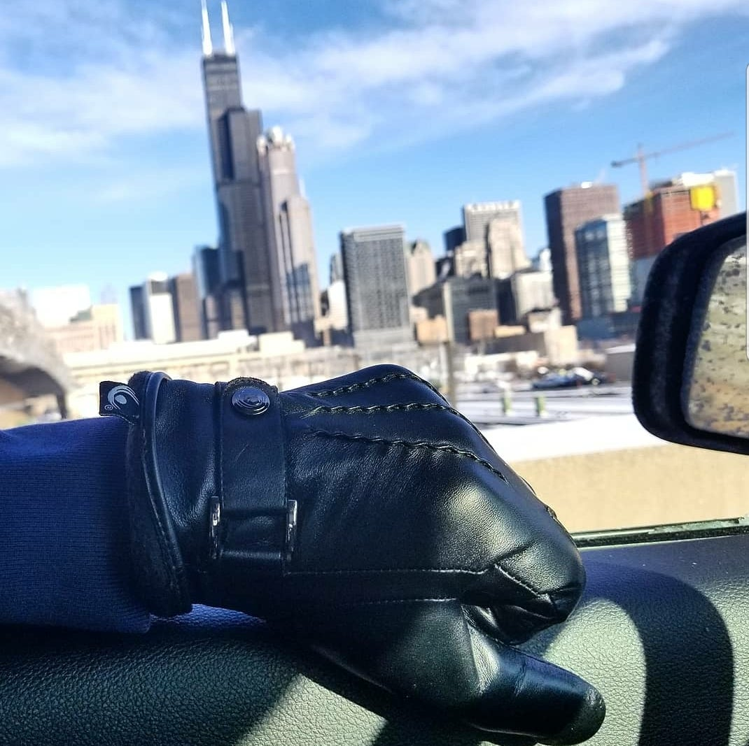 Image of The Active Palm ➐ ™  - Thermal 🔥🔥 - Touchscreen Leather Gloves