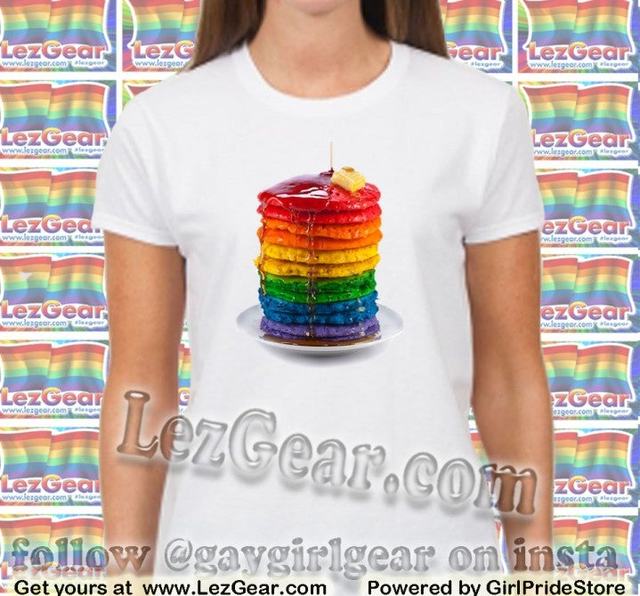 Image of Rainbow Pancake Stack Tee