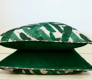 Image of Banana Leaf Piped cushion cover