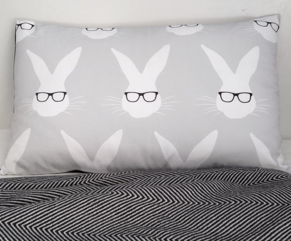 Image of Nerd Bunny Pillowcase