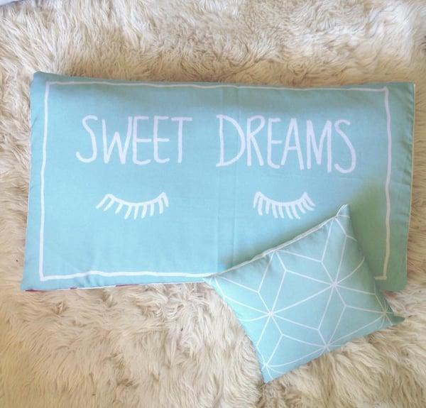 Image of Sweet Dreams Mint Pillowcase