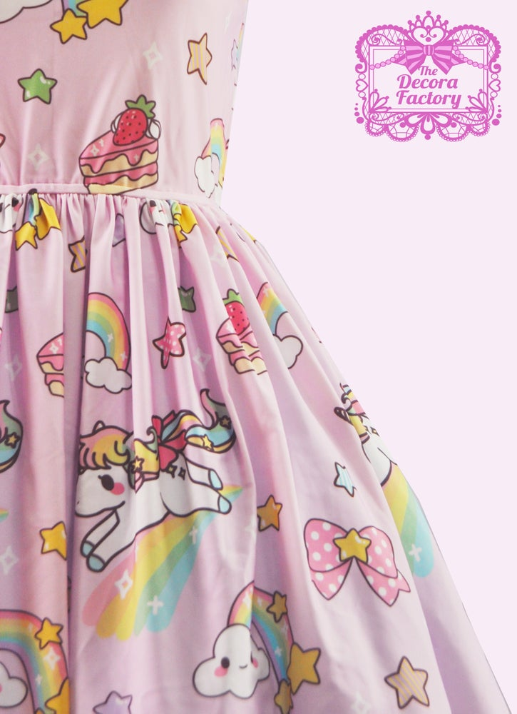 Image of KIRA KIRA! Star Unicorn Dress in Pink