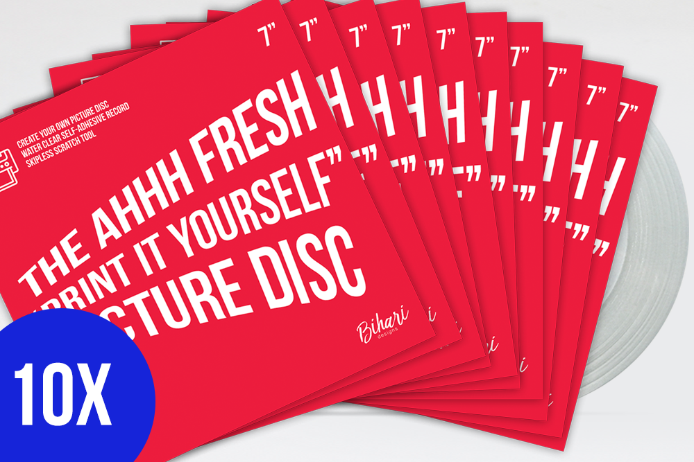 "Image of 10 X Ahhh Fresh ""Print It Yourself"" Picture Disc by Bihari"