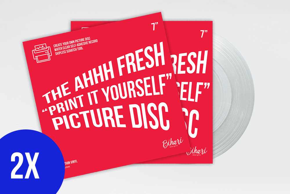 "Image of 2 X Ahhh Fresh ""Print It Yourself"" Picture Disc by Bihari"