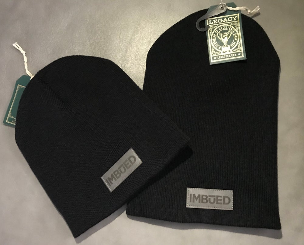 Image of IMBUED Non-Cuff Black Beanie
