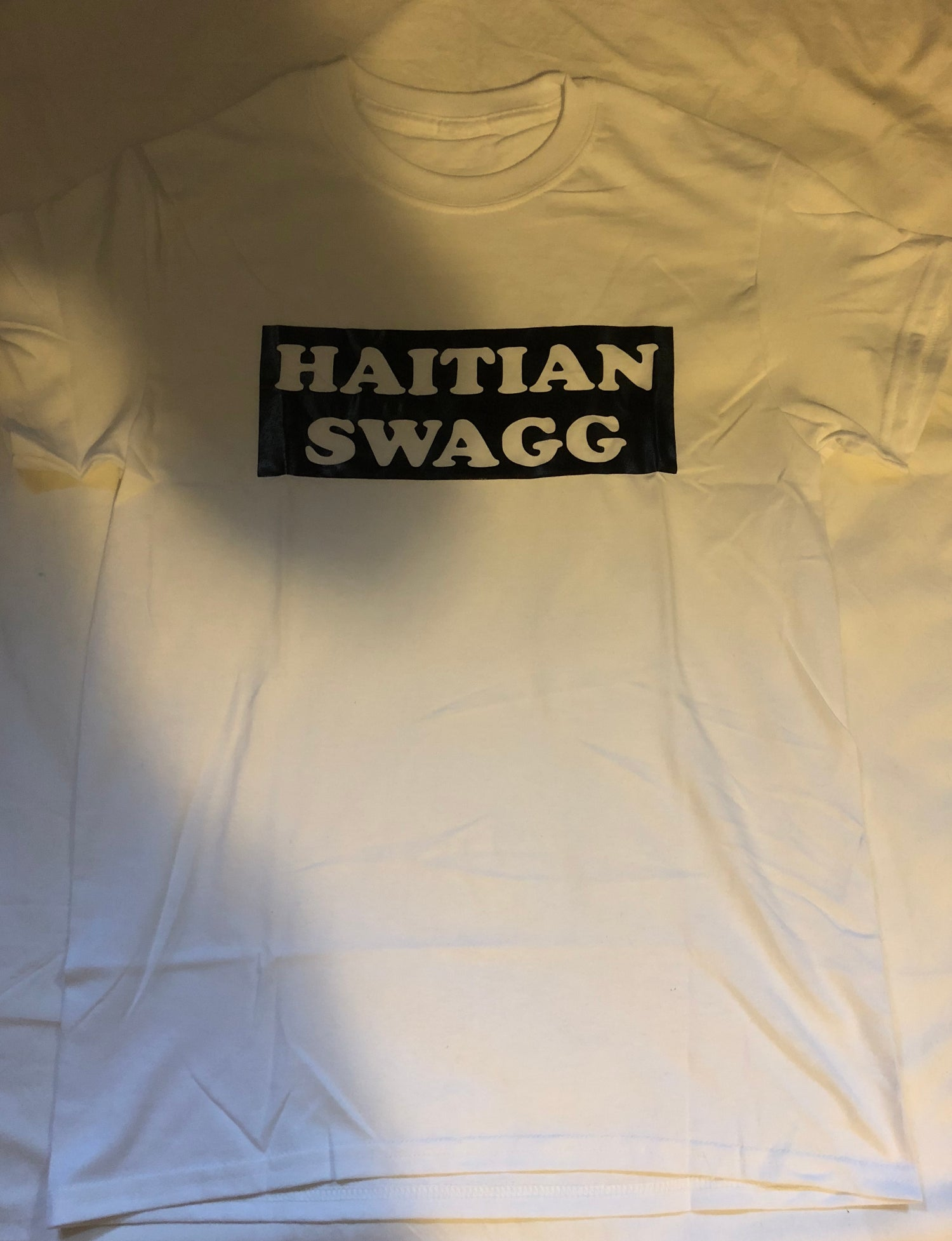 Image of Haitian Swagg white and black , White tee