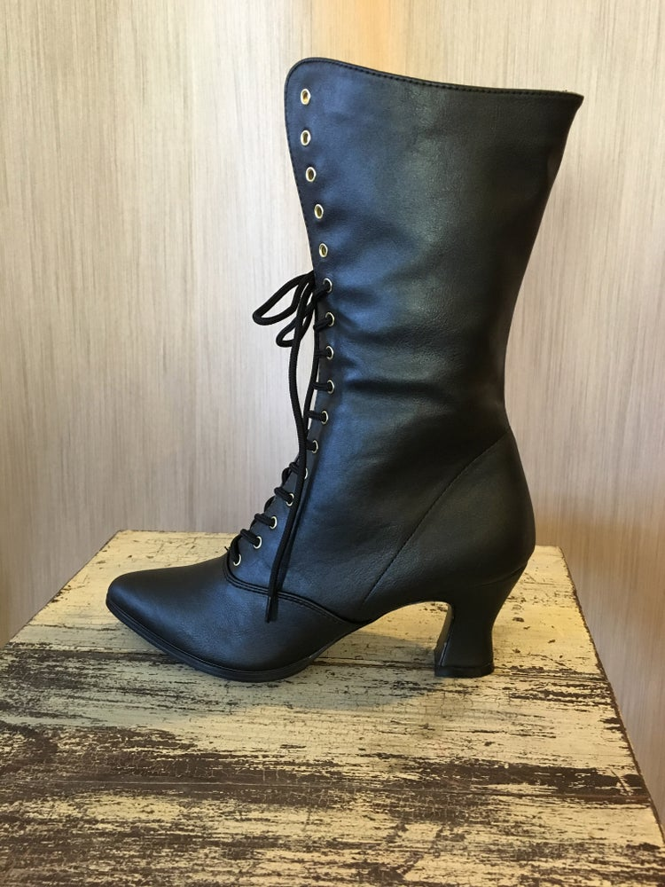 Image of Victorian-Style Boots - Black