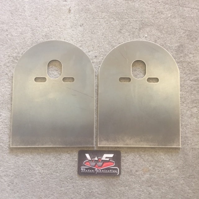 Image of Rear Bridge Plates - Pair - Plain