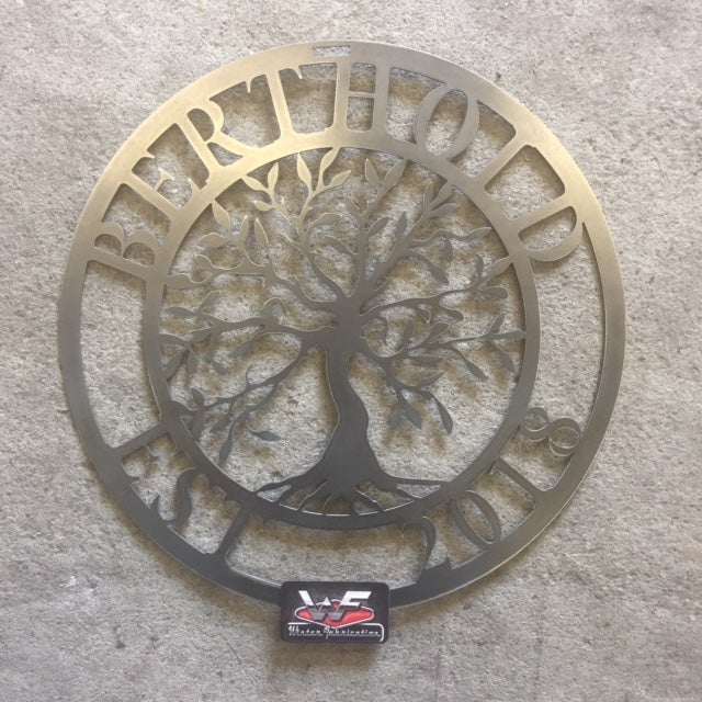 Image of Personalized Tree of Life with Last Name and Established Year