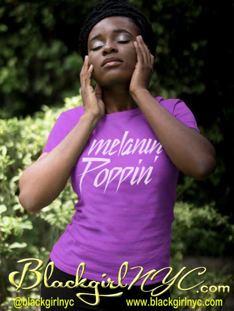 Image of Melanin Poppin (Prince Style) Purple tee