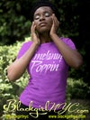 Melanin Poppin (Prince Style) Purple tee