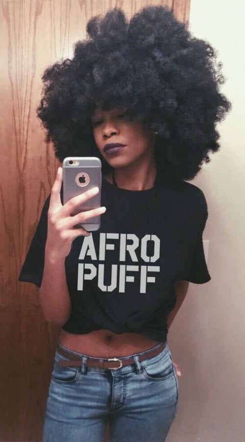 Image of AFRO PUFF  / Black Tee