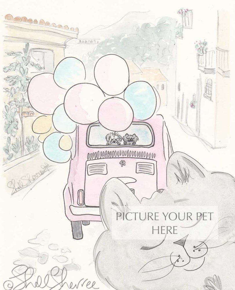 Image of Pet Portrait with Paris and Provence Settings