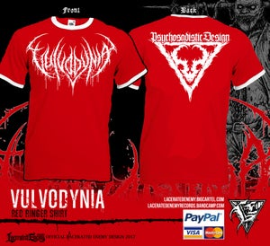 Image of VULVODYNIA - Red Ringer Tshirt