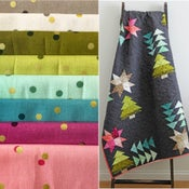 Image of Home for the holidays OMBRE FABRIC bundle with pdf pattern