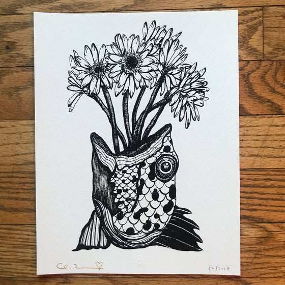 "Image of ""Love is Longing"" 8.5""X11"" Giclee Fine Art Print"