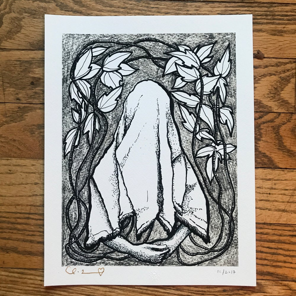 "Image of ""Hopeful Ghost"" 8.5""X11"" Giclee Fine Art Print"