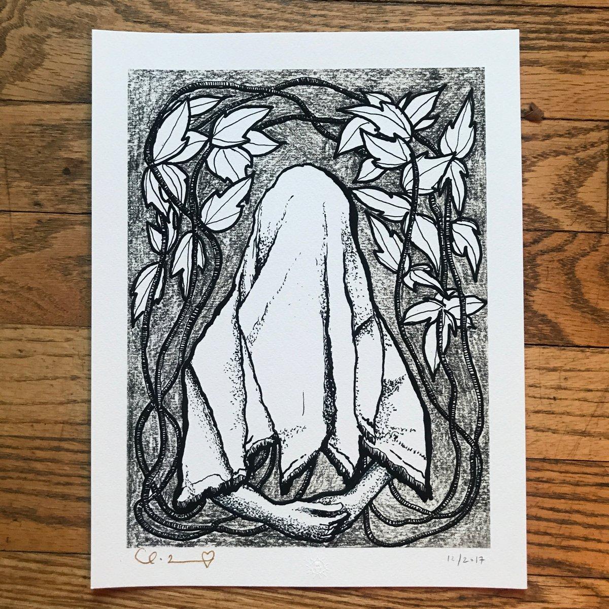 "Image of ""Hopeful Ghost"" 8.5""X11"" Giclee Fine Art Print"