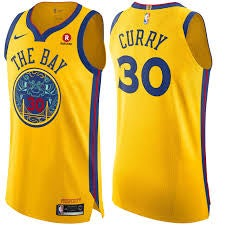 """Image of Steph Curry """"The Bay Jersey"""""""