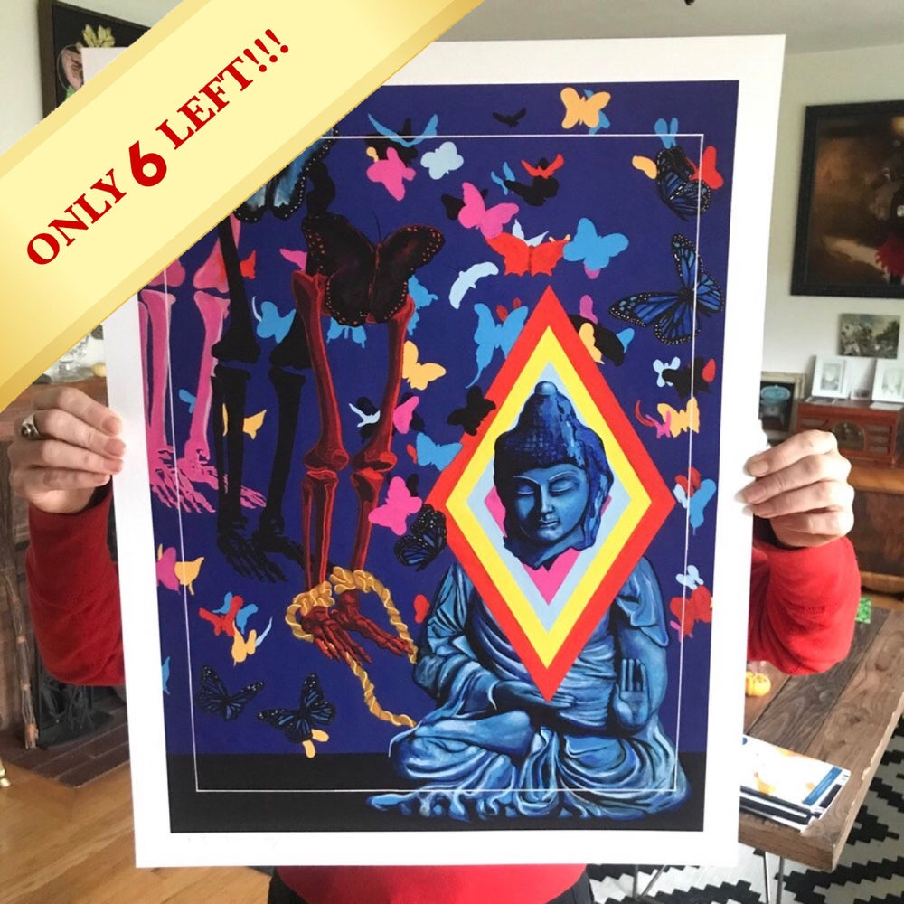 """Image of """"Qualia"""" 17""""x22"""" Large Limited Giclee Print with Hand Drawn Gold Accents"""